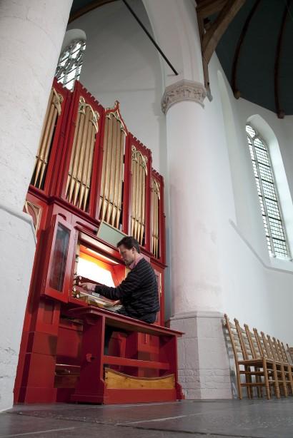 25 jarig jubileum; Andre van Vliet; kerk; organist; orgel